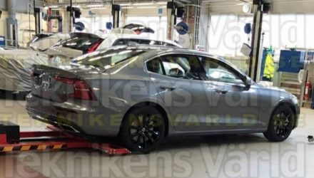 2019 Volvo S60 caught naked ahead of mid-year unveiling