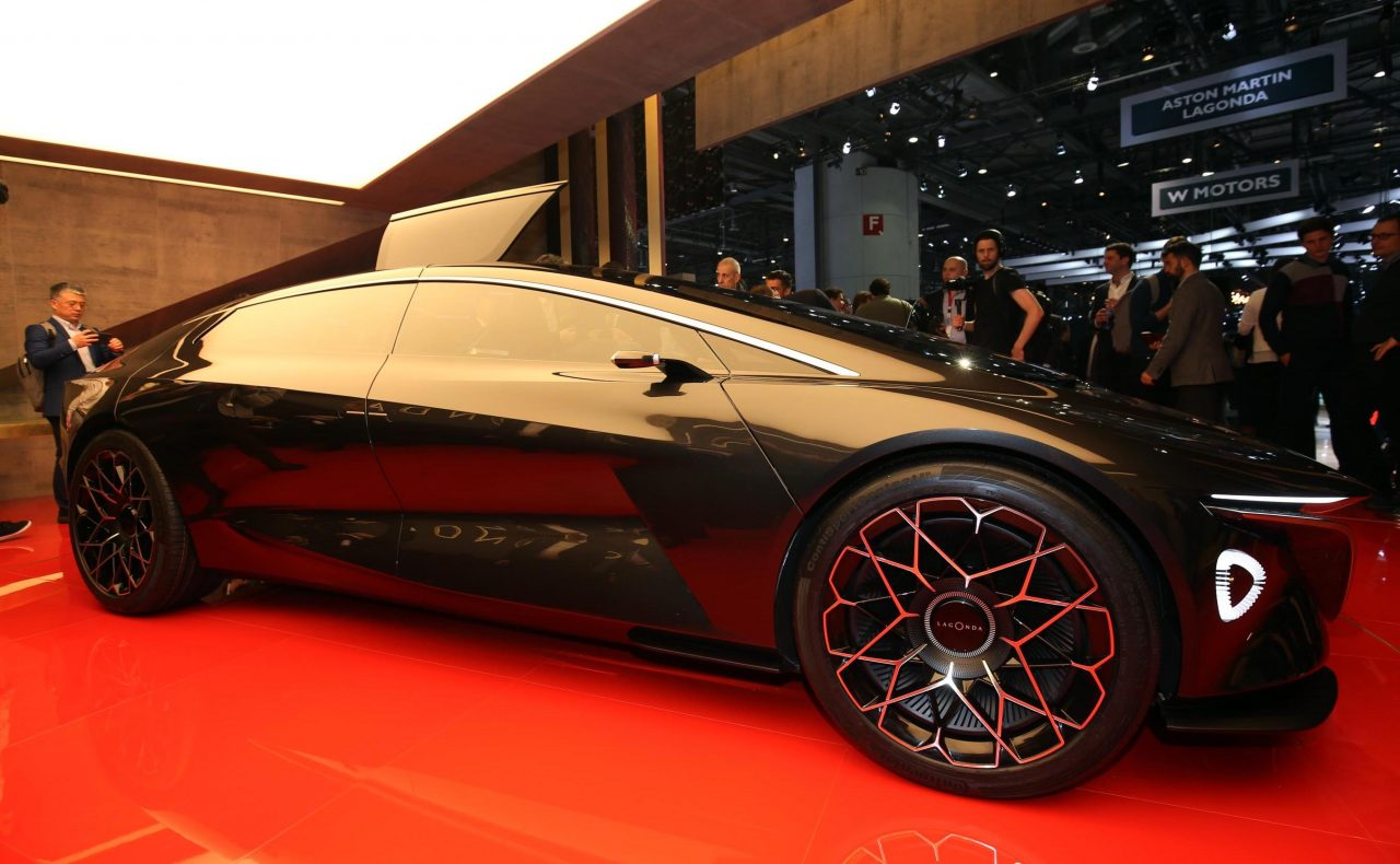 lagonda vision concept swoops into geneva from the future performancedrive. Black Bedroom Furniture Sets. Home Design Ideas