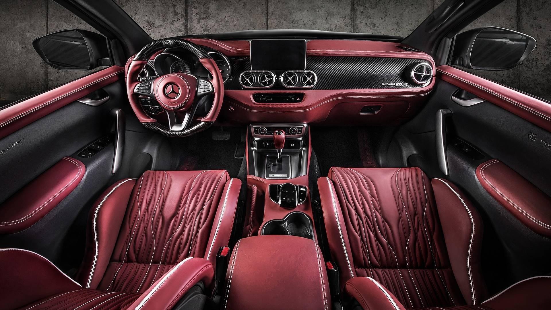 carlex design mercedes benz x class red interior. Black Bedroom Furniture Sets. Home Design Ideas