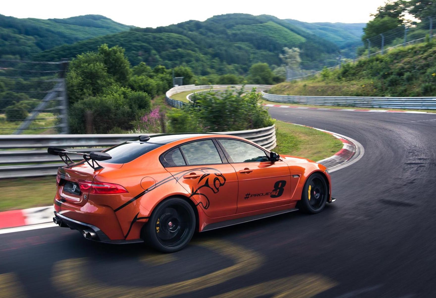 jaguar xe sv project 8 tuning continues new nurburgring. Black Bedroom Furniture Sets. Home Design Ideas