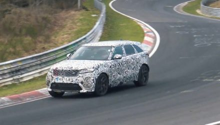Range Rover Velar SVR continues testing, sounds beefy (video)