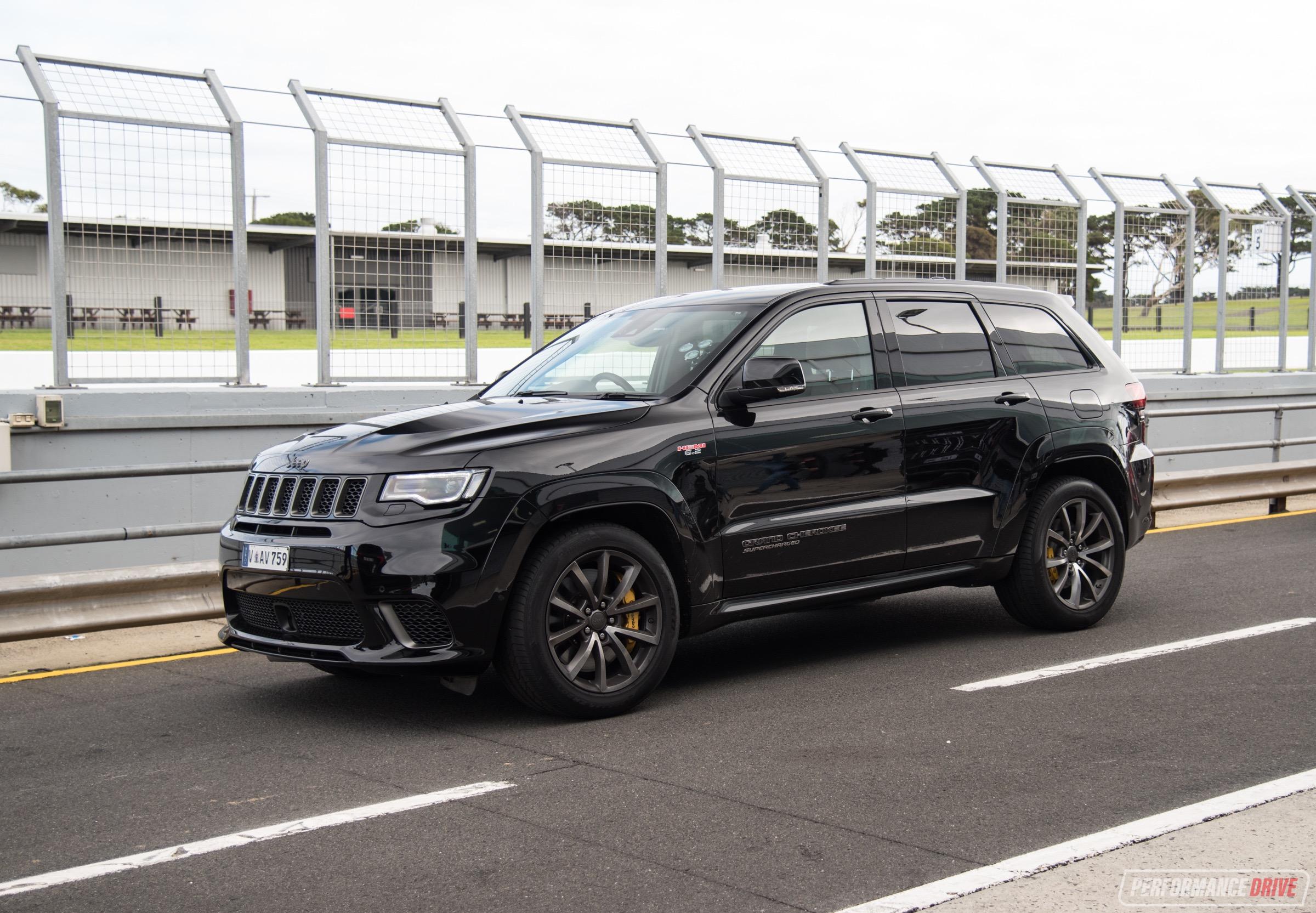 2018 jeep grand cherokee trackhawk review australian launch video performancedrive. Black Bedroom Furniture Sets. Home Design Ideas