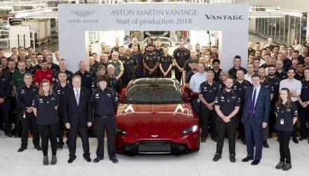New Aston Martin Vantage production commences