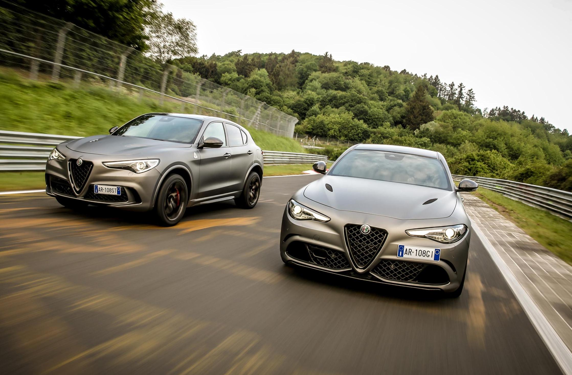 alfa romeo giulia qv nring stelvio qv nring editions revealed performancedrive. Black Bedroom Furniture Sets. Home Design Ideas