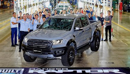 Ford Ranger Raptor production-first car