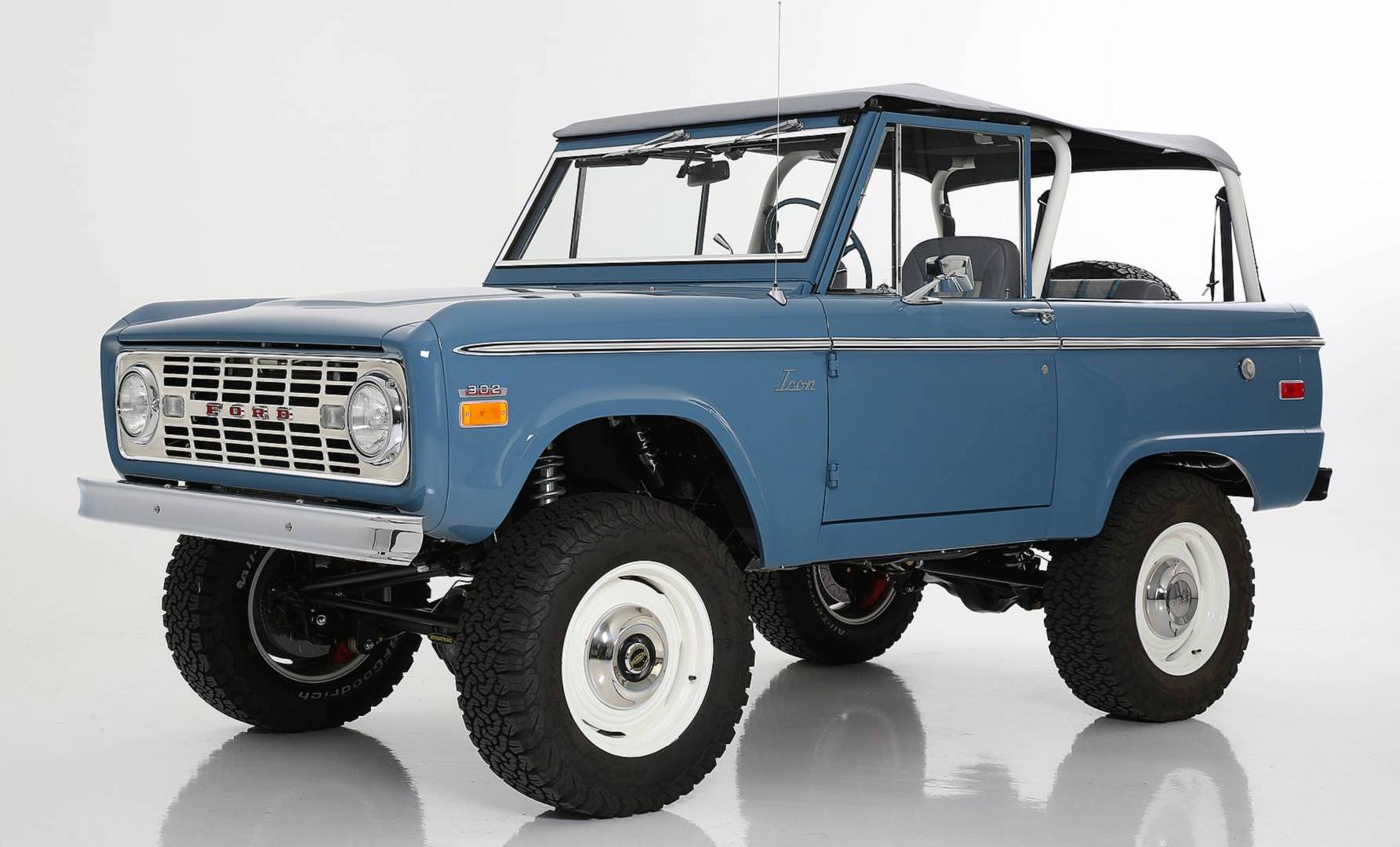 Icon Old School Br Ford Bronco Debuts With Coyote V8 Power