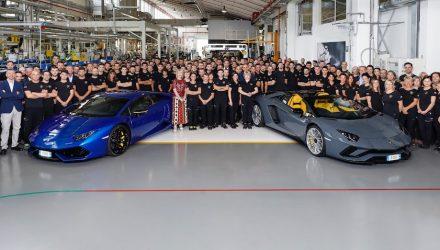 Lamborghini Aventador production hits 8000, Huracan hits 11,000