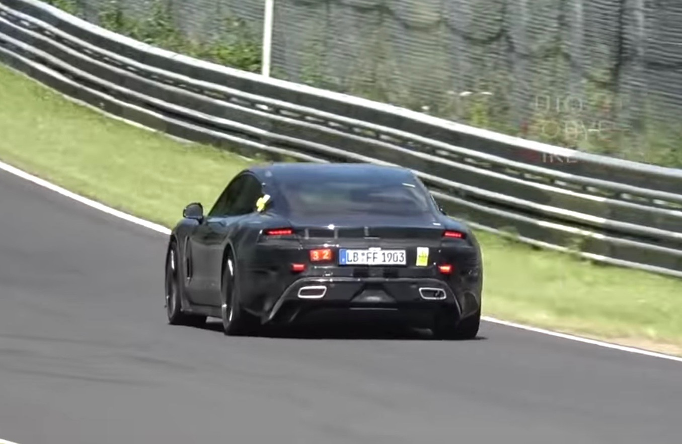 Porsche Taycan Spotted At Nurburgring Looks Fast Video