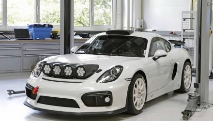 Porsche Cayman GT4 Clubsport rally concept, yes please