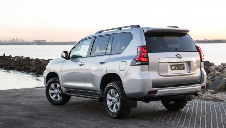 2018 Toyota Prado GXL relocated spare