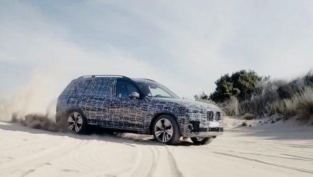2019 BMW X7 prototype-sand