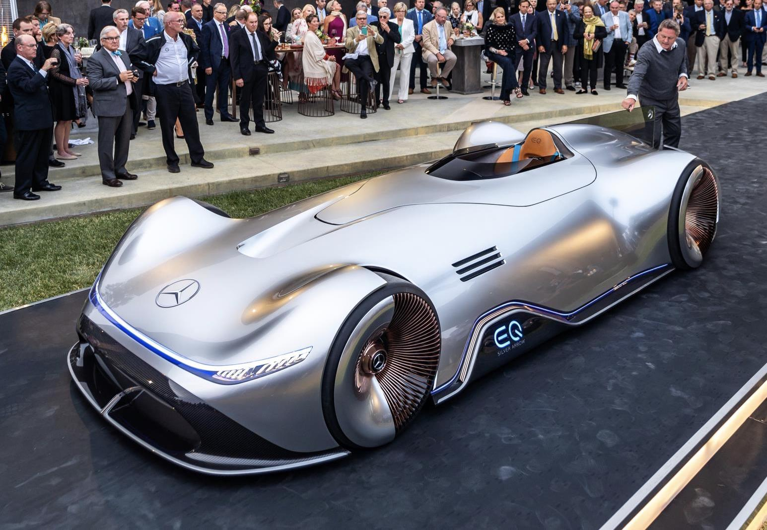 Mercedes benz vision eq silver arrow unveiled for Mercedes benz motorsport